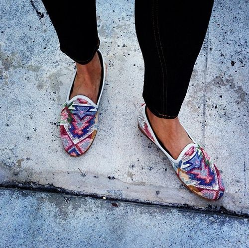 patterned flats.