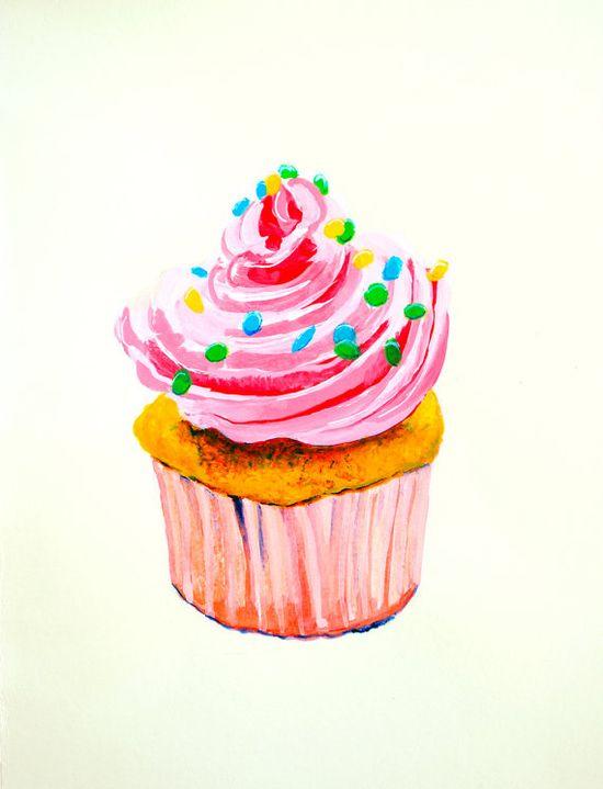 cute cupcake art for kitchen