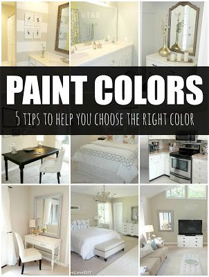 How to choose a paint color: 5 tips to help you choose the right color! Great tips!