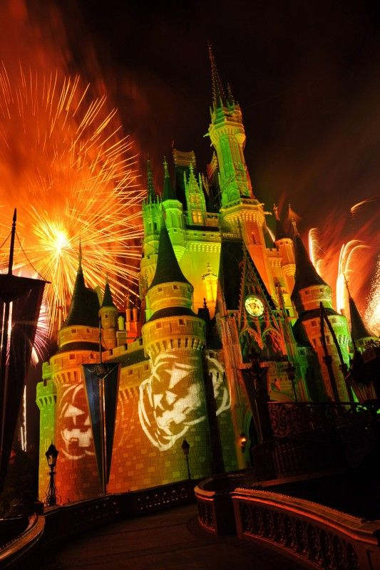 The Disney Castle - Halloween style!