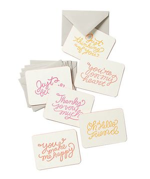 Gift Idea: Every occasion note card set by Moglea for Anthropologie