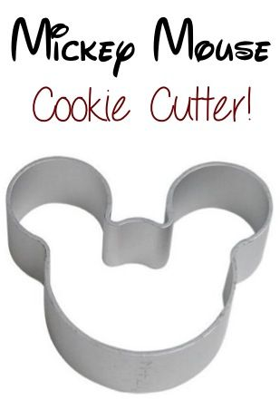 Mickey Mouse Cookie Cutter: 0.65 + FREE shipping!! ~ add it to your baking collection, or use it as a tracing template for crafts! #mickeymouse