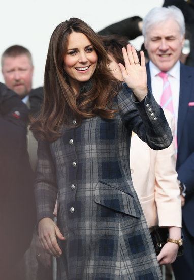 Kate Middleton waved at her fans in Glasgow today