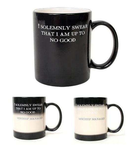 Transforming Harry Potter mug.