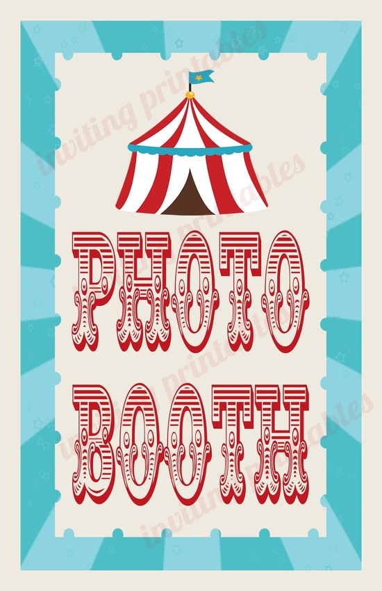 Circus Carnival Birthday Party Signs. $8.00, via Etsy.