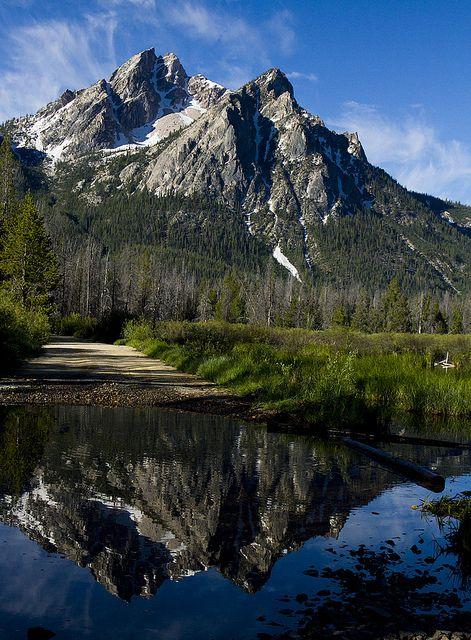 Sawtooth mountains, Idaho. I drive through these all the time. So pretty