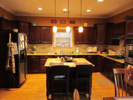 kitchen decor above cabinets - Google Search