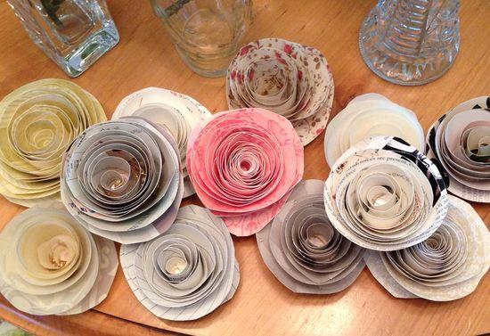 handmade rose paper garland