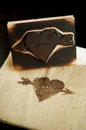 stamp on burlap!