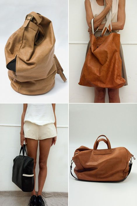 cognac colored bag in the top right. yes and yes.