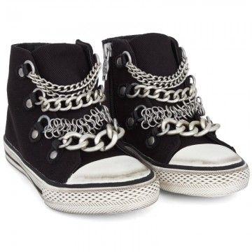 Ash Shoes Washed Denim Hi-tops