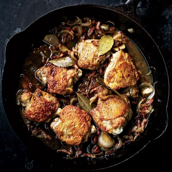 Adobo Chicken with Bacon and Bay Leaves // More Fabulous Chicken Thigh Recipes: www.foodandwine.c... #foodandwine