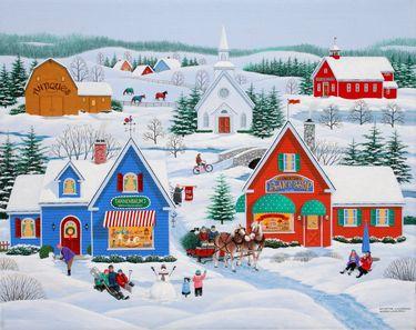"Saatchi Art Artist wilfrido limvalencia; Painting, ""Wintertime in Sugarcreek"" #art"