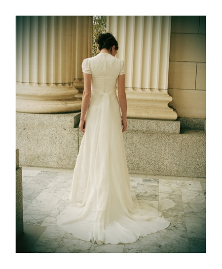 custom modest wedding dress