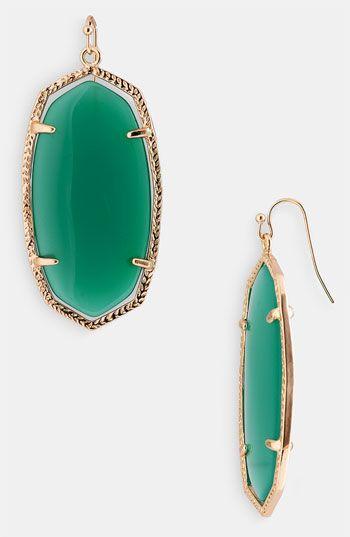 Make an #emerald statement with Kendra Scott 'Danielle' earrings #coloroftheyear