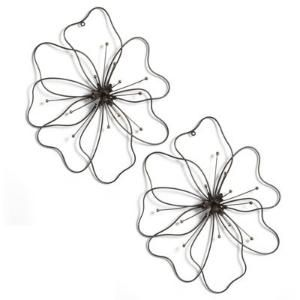 Poppy Flower Metal Art, Garden Wall Art  (Depending on the color of the wall it could also be painted with outdoor paint.) by flora