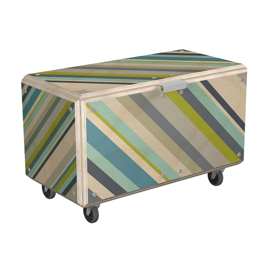 Pattern the built in storage bench