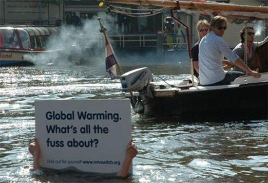 Global warming. Amazing Guerilla Marketing Ads. Part 2