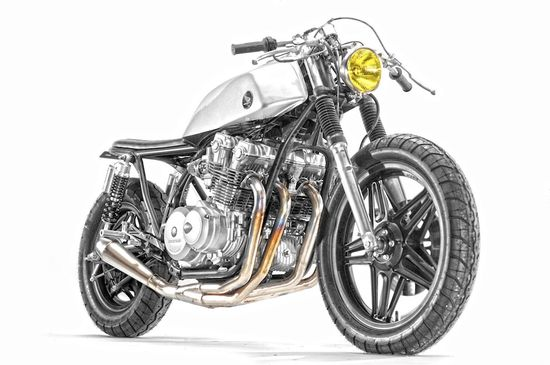 Honda CB750 Stainless by Steel Bent Customs.