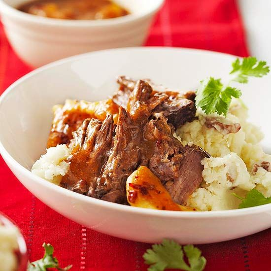 Pot Roast with Fruit and Chipotle Sauce!  Check out all of the 5 ingredient slow cooker recipes!