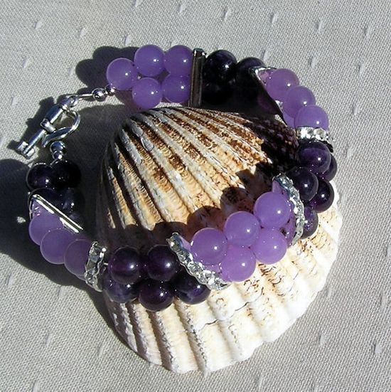 Amethyst & Lavender Jade Crystal Gemstone by SunnyCrystals on Etsy, £13.25