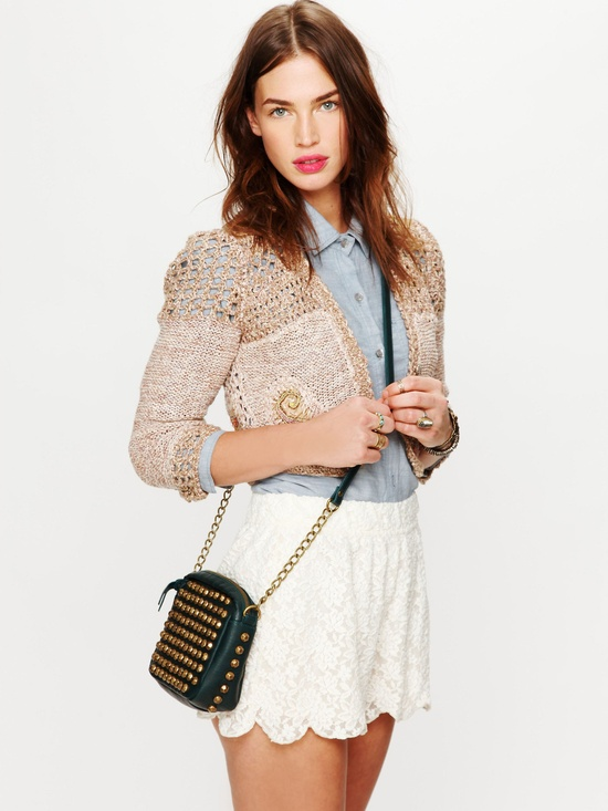 scalloped shorts from free people
