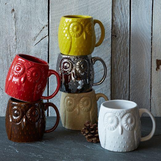 Figurative Owl Mug