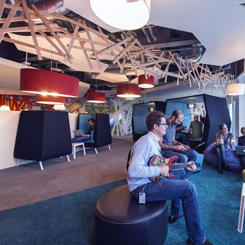 Google Office Pictures Ireland. High back seats