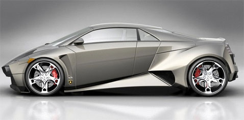 Futuristic Concept Sports Car