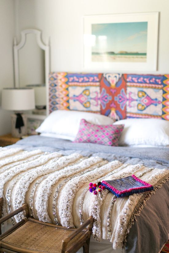Amber Interiors Home Tour. Vibrant pink, purple and prints galore!