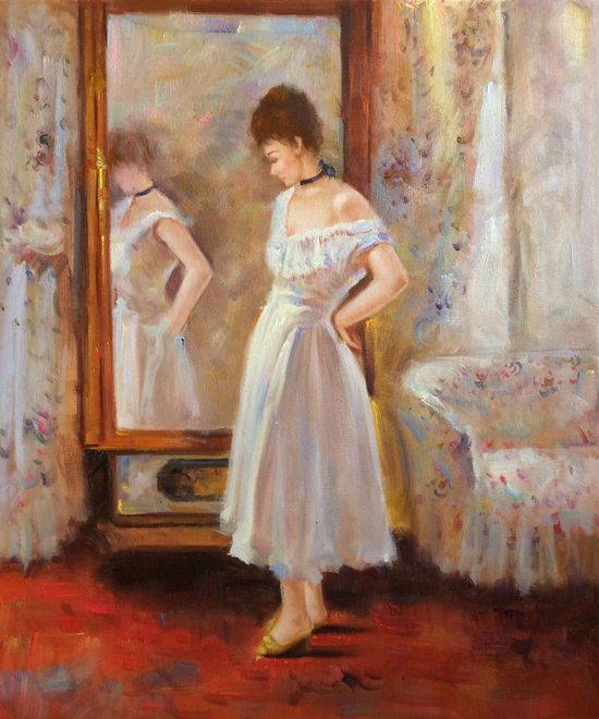 Berthe Morisot - In the Glass.  Hand painted oil painting reproductions available at overstockArt.com #art