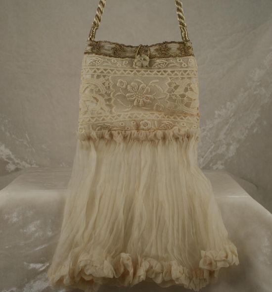 Vintage wedding purse