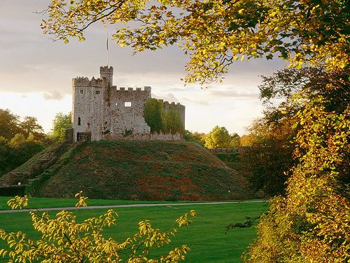 The Norman keep Cardiff Castle _ Wales