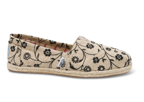 Embroidered Floral Women's Classics side - Toms