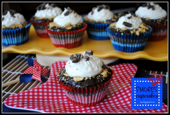 S'mores Cupcakes - @shugarysweets