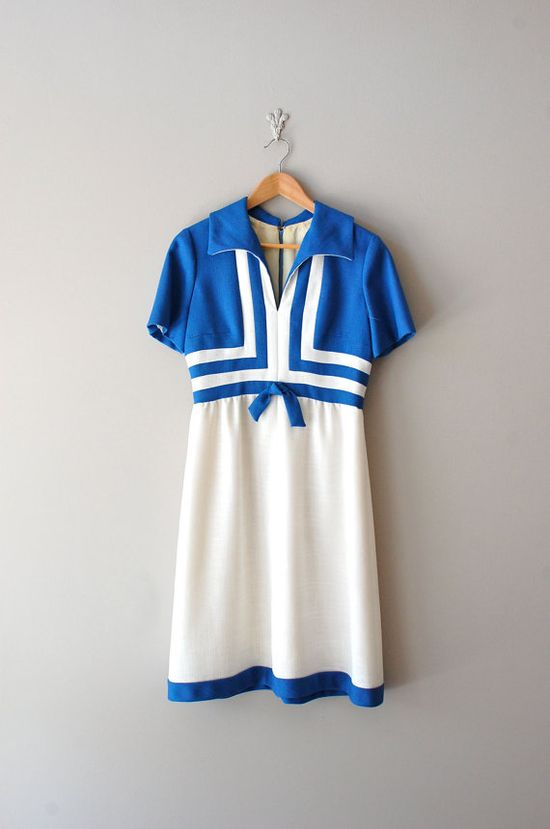 vintage 1960s Then and Now geometric mod dress