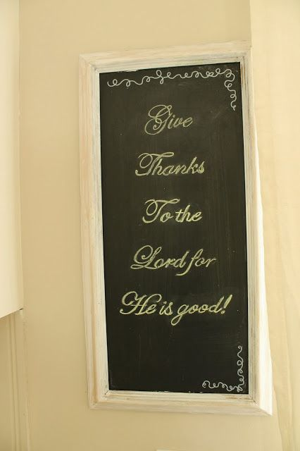 homey home design: Chalkboard Thanks