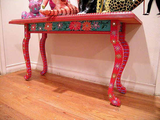 Painted Table by Patti Haskins