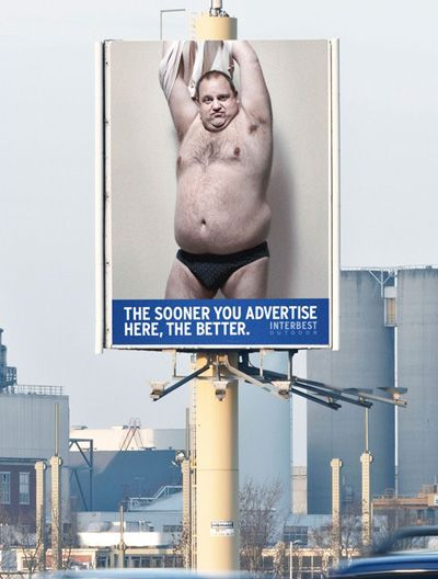 Creative and clever billboard advertisement.