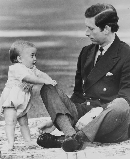 Prince Charles & his son, Prince William