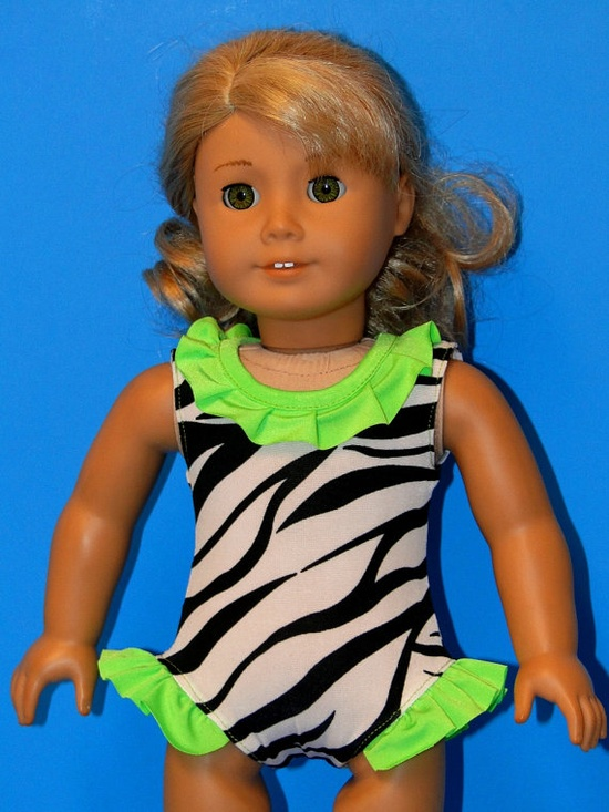 Animal Print Doll SWIMSUIT - 18 Inch Doll Clothing fits American Girl Doll on etsy