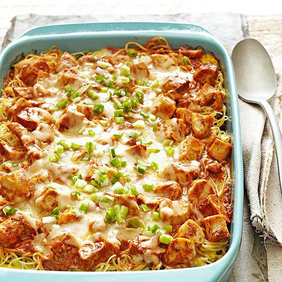 Indian-Spiced Chicken Casserole - I bet the left overs are even better! More summer casserole recipes: www.bhg.com/...