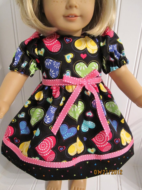 Shades of Colorful Hearts Dress