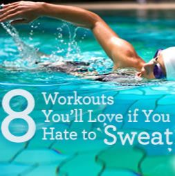 8 No-Sweat Workouts: Perfect if you hate sweating, workout in the middle of the day, or need a quick exercise routine in a busy day.