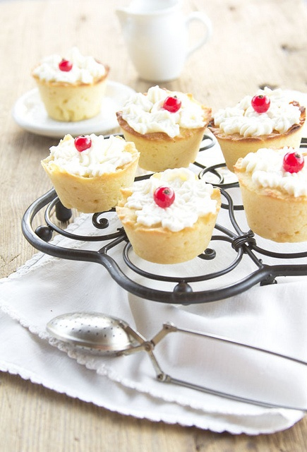Darling little Red Currant Topped Cupcakes. #cooking #food #beautiful #baking #dessert #cupcakes #currants #cake