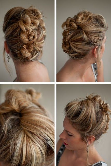 the bun mohawk #hair #updo #pin and twist