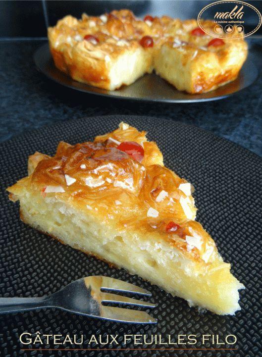 Gâteau aux feuilles filo | makla - La cuisine authentique