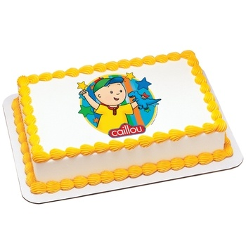 Caillou Birthday Cake on Catalog Spree Pin To Win   Caillou   Dinosaur Edible Icing Cake Topper