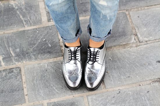 #fashion #shoes Tartan + boyfriend jeans: ciao Franciacorta!
