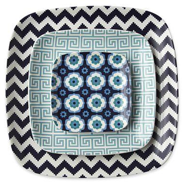 Happy Chic by Jonathan Adler Set of 3 Ceramic Nesting Trays
